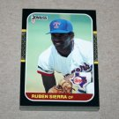 1987 DONRUSS BASEBALL - Texas Rangers Team Set