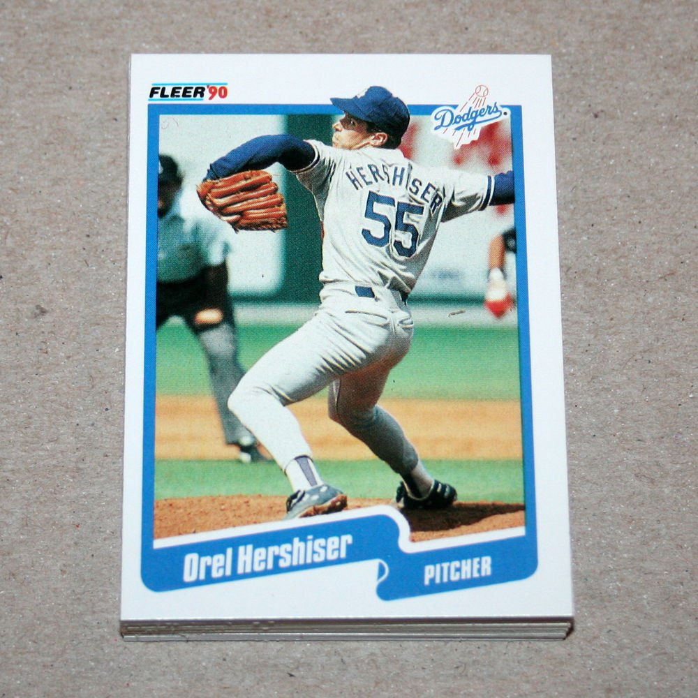 1990 FLEER BASEBALL - Los Angeles Dodgers Team Set + Update Series