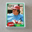 1981 TOPPS BASEBALL - Philadelphia Phillies Team Set + Traded Series
