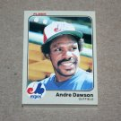 1983 FLEER BASEBALL - Montreal Expos Team Set