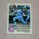 1983 FLEER BASEBALL - Chicago Cubs Team Set