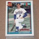 1991 TOPPS BASEBALL - Philadelphia Phillies Team Set + Traded Series