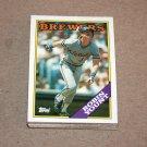 1988 TOPPS BASEBALL - Milwaukee Brewers Team Set + Traded Series
