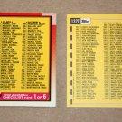 1990 TOPPS BASEBALL - Checklist Set + Traded Series