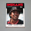 1986 TOPPS BASEBALL - Cleveland Indians Team Set + Traded Series