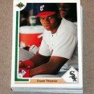 1991 UPPER DECK BASEBALL - Chicago White Sox True Team Set (Low/High/Final)