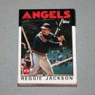1986 TOPPS BASEBALL - California Angels Team Set + Traded Series