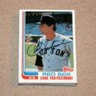 1982 TOPPS BASEBALL - Boston Red Sox True Team Set