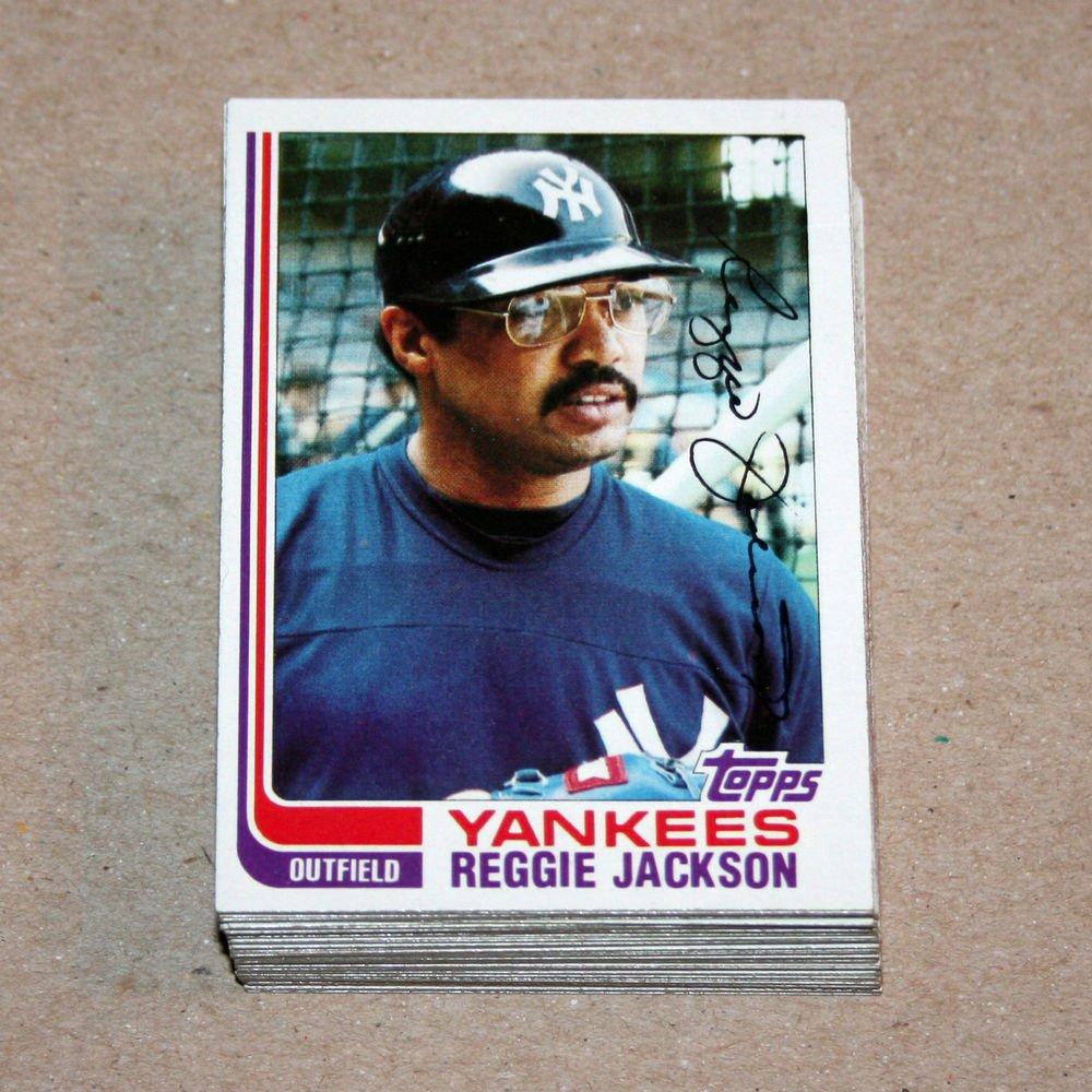 1982 TOPPS BASEBALL - New York Yankees Team Set + Traded Series