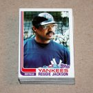1982 TOPPS BASEBALL - New York Yankees Team Set + Traded Series