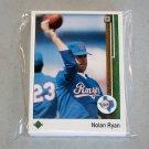 1989 UPPER DECK BASEBALL - Texas Rangers Team Set + High Number Series