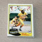 1981 TOPPS BASEBALL - Pittsburgh Pirates Team Set + Traded Series