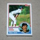 1983 TOPPS BASEBALL - Boston Red Sox Team Set + Traded Series