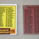 1981 TOPPS BASEBALL - Checklist Set + Traded Series