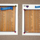 1991 UPPER DECK BASEBALL - Checklist Set + High Number Series & Final Update