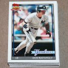 1991 TOPPS BASEBALL - New York Yankees Team Set