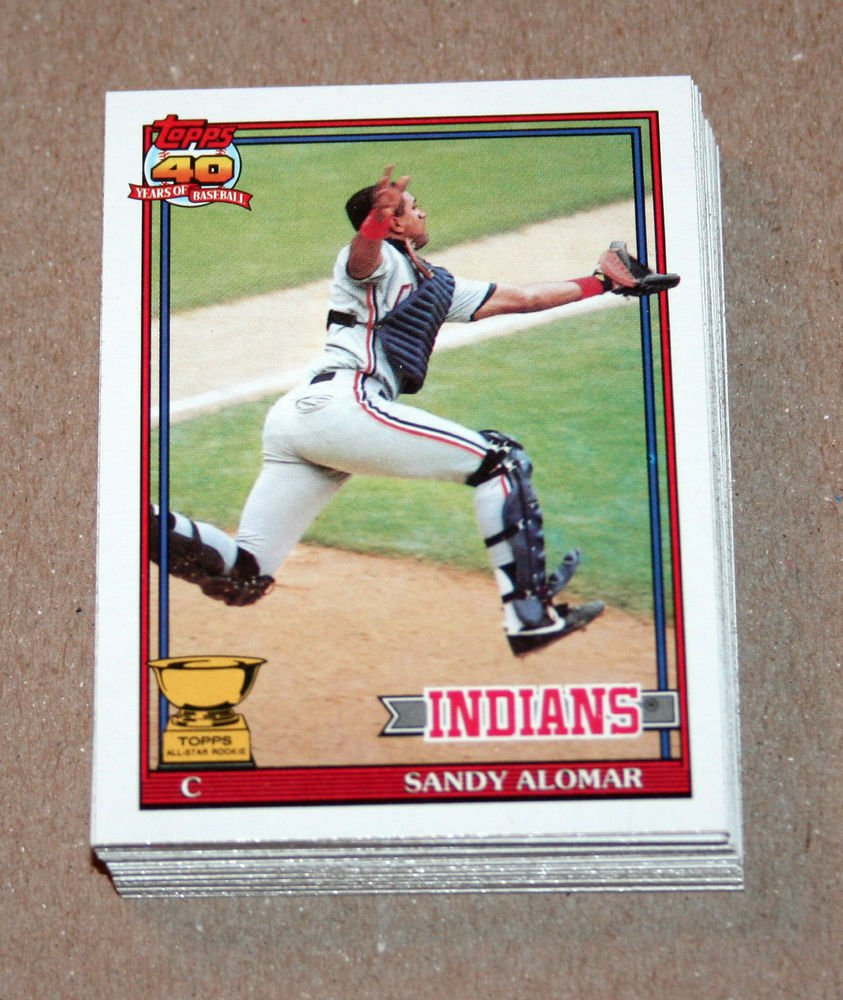 1991 TOPPS BASEBALL - Cleveland Indians Team Set + Traded Series