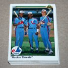 1990 UPPER DECK BASEBALL - Montreal Expos Team Set + High Number Series