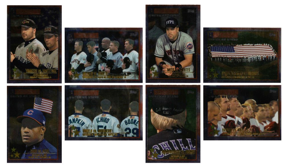 2002 TOPPS BASEBALL - America: United We Stand Complete Sub-Set