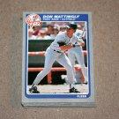 1985 FLEER BASEBALL - New York Yankees Team Set + Update Series