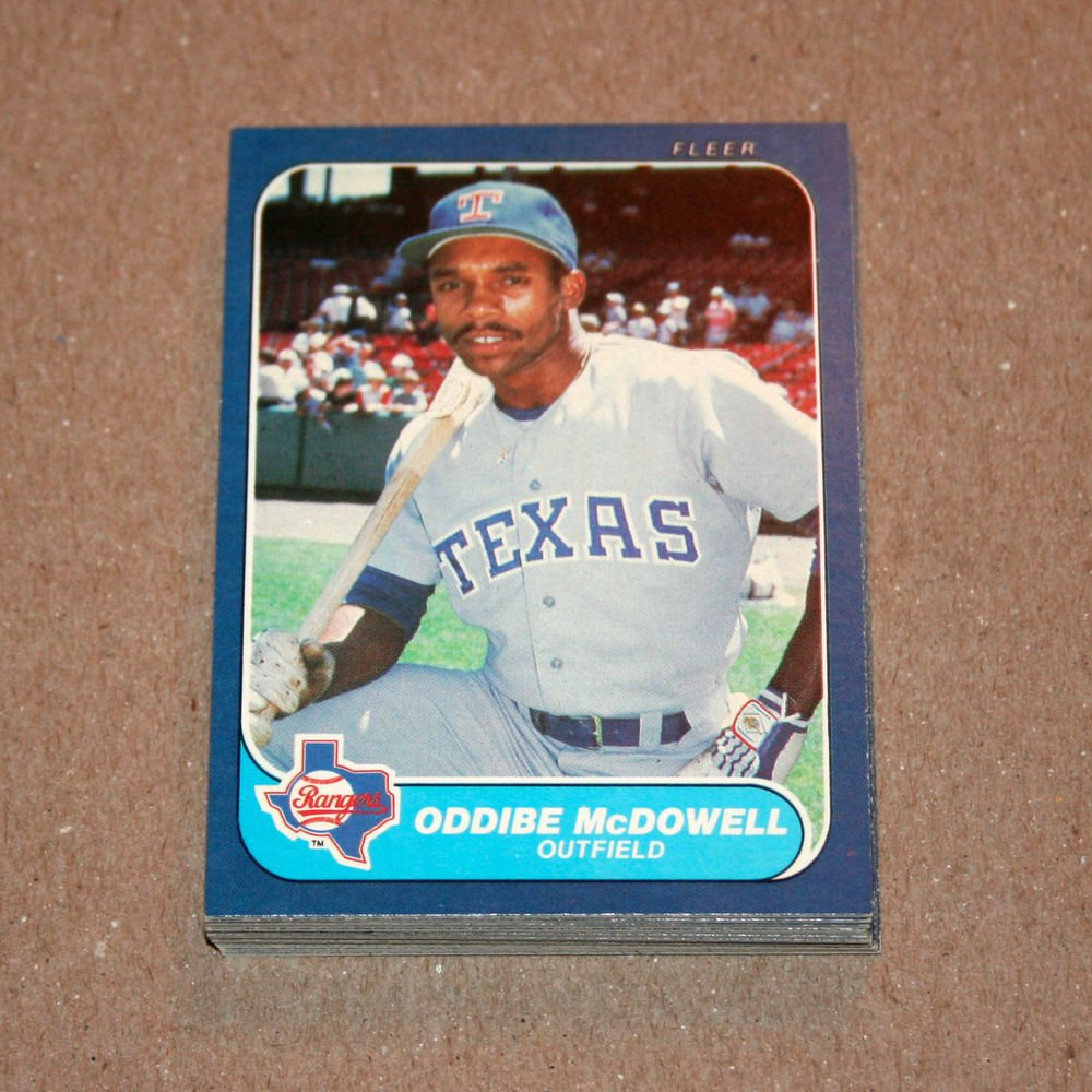1986 FLEER BASEBALL - Texas Rangers Team Set