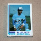 1982 TOPPS BASEBALL - Toronto Blue Jays Team Set + Traded Series