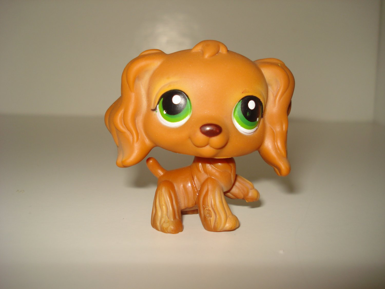 Littlest Pet Shop Cocker Spaniel Brown Green Eyes #252 LPS Hasbro Dog Puppy