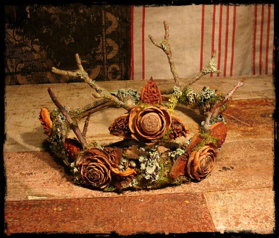 Faery Crown Made of Natural Materials