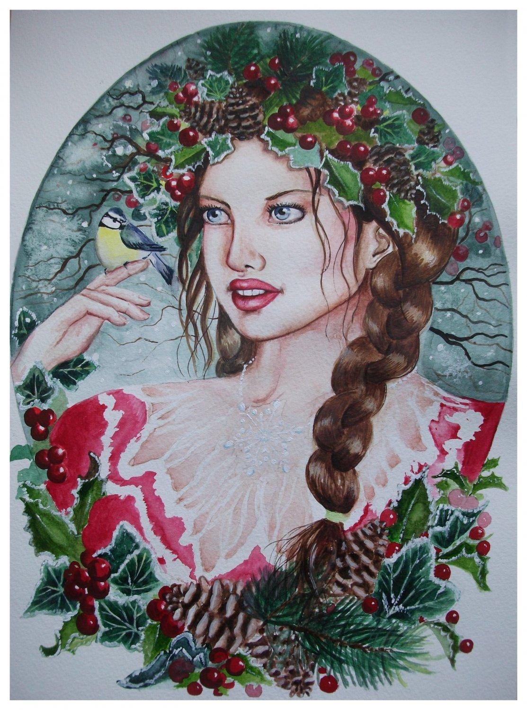 Faery Fantasy Custom Portrait Painting 13 x 17