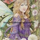 Butterfly Kisses Woodland Fairy 24 x 16 CANVAS FRAMED PRINT
