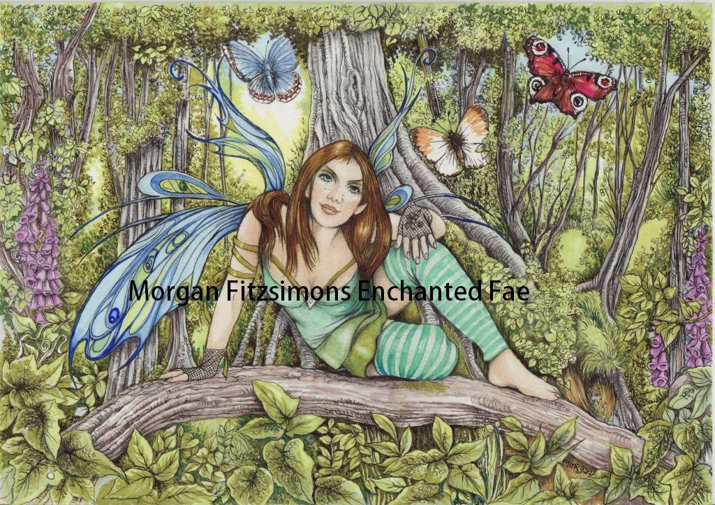 Deepwood Fae 24 x 16 CANVAS FRAMED PRINT