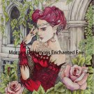 Elf Enchantress in The Roses 24 x 16 CANVAS FRAMED PRINT