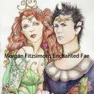Oberon and Titania 12 x 8 FINE ART CANVAS FRAMED PRINT