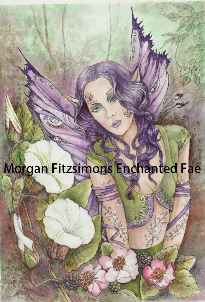 Fae In The Bindweed 24 x 16 FINE ART CANVAS FRAMED PRINT