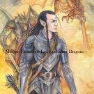 Asphodel with Dragons 24 x 16 FINE ART CANVAS FRAMED PRINT