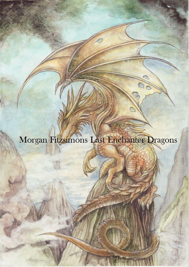 Golden Dragon 24 x 16 FINE ART CANVAS FRAMED PRINT