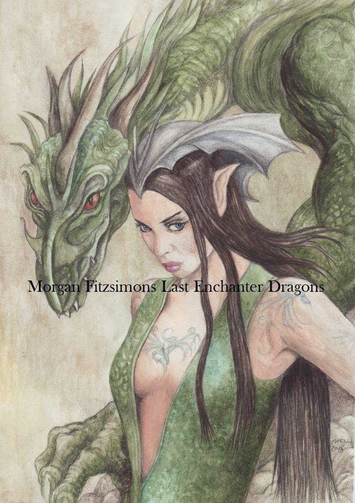 Spirit Dragon 24 x 16 FINE ART CANVAS FRAMED PRINT