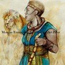 African Maasai 24 x 16 FINE ART CANVAS FRAMED PRINT