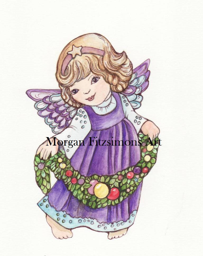 Christmas Angel 3 Digital & Printable Greeting Card