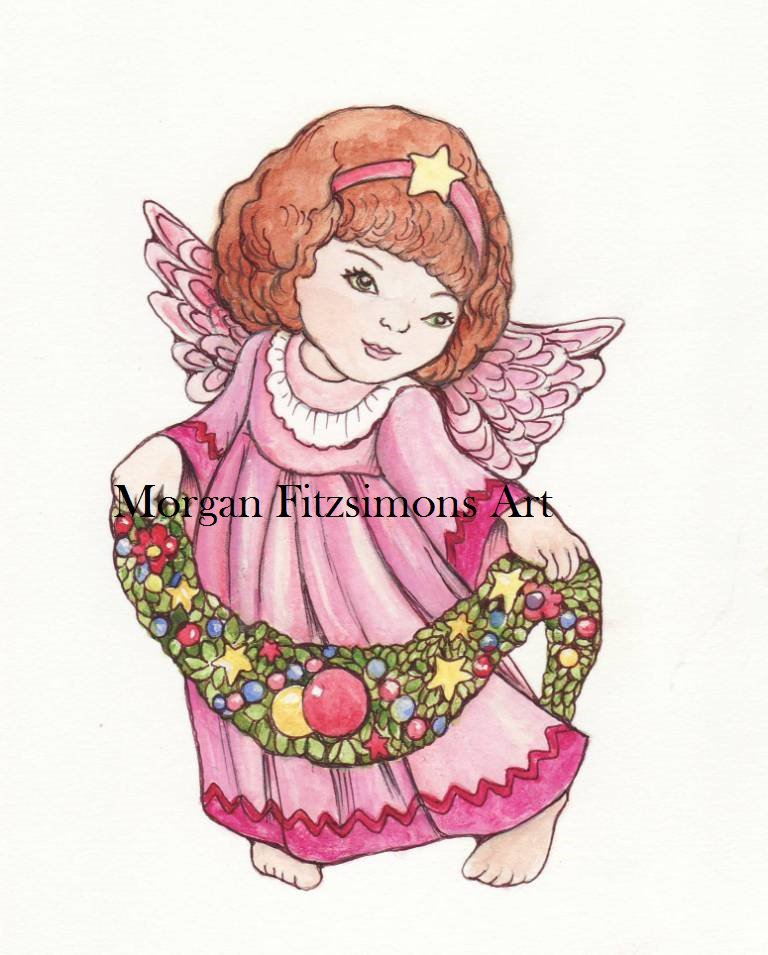 Christmas Angel 2 Digital & Printable Greeting Card