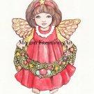 """Christmas Angel"""" Digital & Printable Greeting Card"""