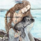 SELKIE SPIRIT FINE ART CANVAS FRAMED PRINT