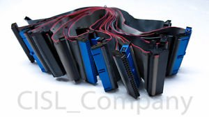 """Lot of 11 IDE PATA Ribbon Cables 40 Pin Female to Female 12"""" Length"""