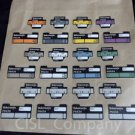 Tektronix P6434 Probe Cable Labels for Logic Analyzer, 24 Count Free Shipping