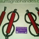 Jeep Wrangler JK, JKU 4 Door Paracord Grab Handles red & black Roll Bar