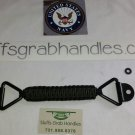 Jeep Cherokee (XJ) Para-cord grab handle Black on Black