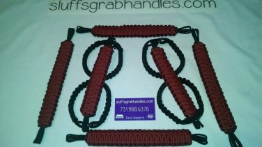 Jeep Wrangler 4 Door Crimson and maroon Paracord Grab handles