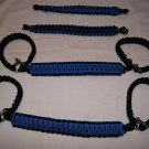 Jeep Wrangler JK, JKU 4 Door Paracord Grab Handles blue and black Roll Bar