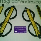 Jeep Wrangler JK, JKU 4 Door Paracord Grab Handles yellow & black Roll Bar
