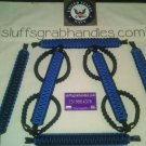 Jeep Wrangler JK, JKU 4 Door Paracord Grab handles blue and black For Roll Bar